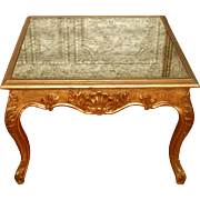 Gilt Coffee/Side Table Mirrored Top France 19th C
