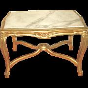Marble Coffee Table Italian Carved Carrara 19th C