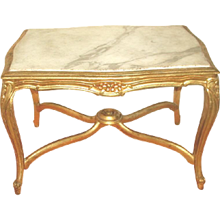 Marble Coffee Table Italian Carved Carrara 19th C