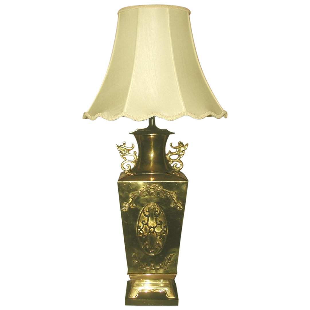 Brass Oriental Lamp Large 3 Way