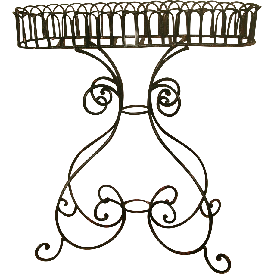 Wrought Iron Planter Large Decorative Early 1900's
