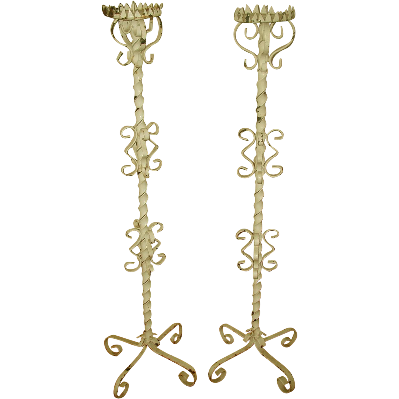Candle Holders Plant Stands Wrought Iron Tall Footed