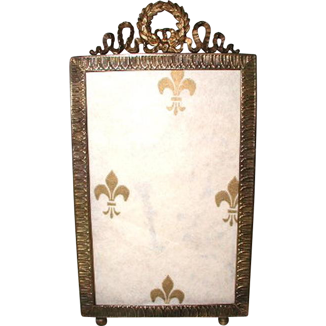 French Brass Frame Photo 19th Century Ornate