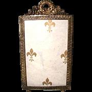 French Brass Frame Photo Ornate 19th Century