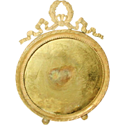 Solid Brass Frame France 19th C Round
