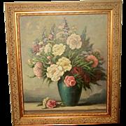 Signed Original Oil Ornate New Frame Early 1900's