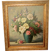 Signed Original Oil Ornate New Frame Early 1900's
