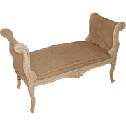 Carved French Bench Louis XV 19th Century