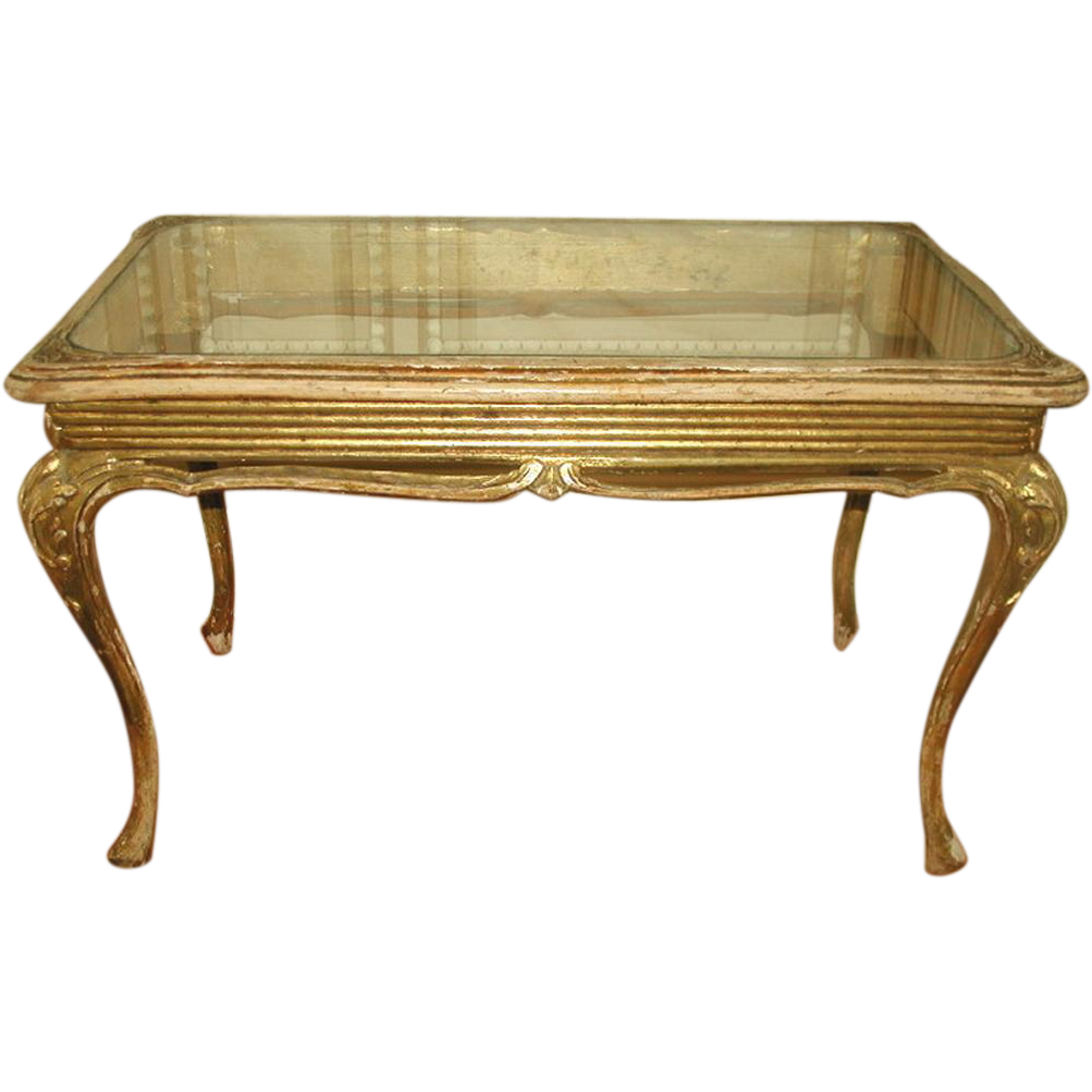 French coffee table carved glass top 19th century from for French glass coffee table