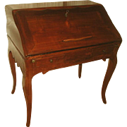 French Fruitwood Desk 18th C Hand Carved Unusual