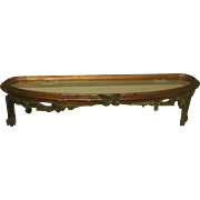 Palladio Console Shelf Carved 18th C Glass Top