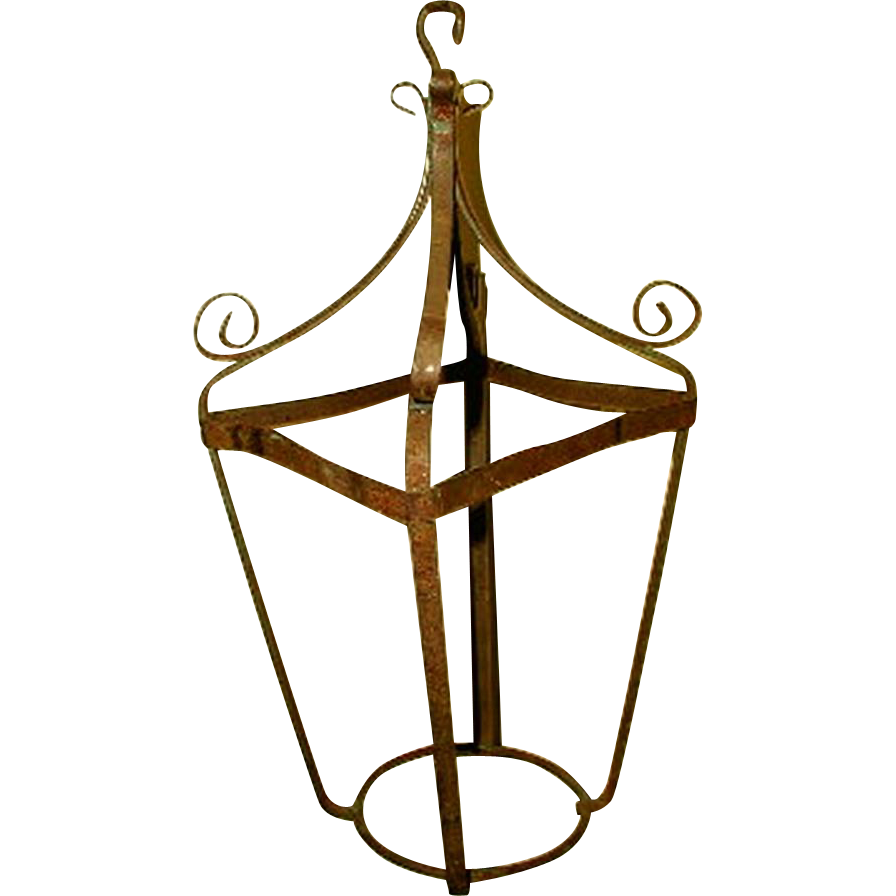 Planter Candle Holder Hanging Metal 19th Century