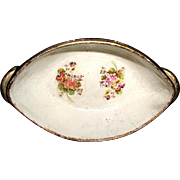 Austrian Bowl Papier Mache 19th Century Hand Painted
