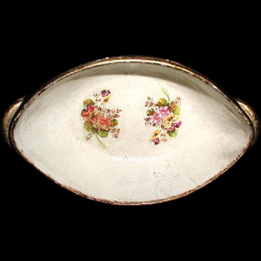 Austrian Bowl Papier Mache 19th Century Hand Painted