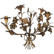 Bronze French Sconce Early 1900's Handsome