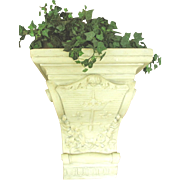 Plaster Corbel Planter France 19th Century
