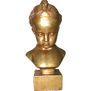 Italian Child Sculpture Gilt C.1890-1905