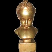 Italian Child Sculpture Gilt C.1890-1905