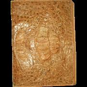 Crocodile Leather Portfolio Case France 19th Century Legal Size