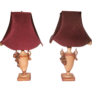 French Vanity Lamps Rewired Early 1900's