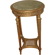 Gilt Marble Table France 19th C Hand Carved Caned