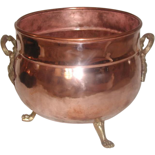 Hand Forged Planter Copper Brass England 19th Century