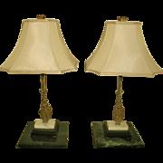 Bronze Girandole Lamps France Early 1900's
