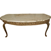 Italian Console Table Marble Top Gilt Early 1900's