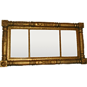 Federal Gilt Mirror England Early 1800's Original Mirror