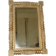 Italian Federal Mirror Pewter Gilt 19th Century