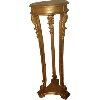 Gilt Pedestal Table French Early 1900's