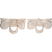 Corbel Shelf Brackets Italy Carved Pair 19th Century