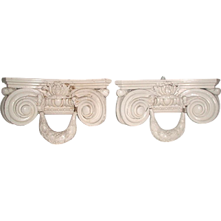 Corbel Shelf Brackets Italy Carved Pair 19th Century