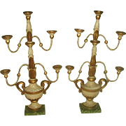 Wall Or Tabletop Sconces Early 1900's Carved