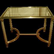 Brass Pewter Italian Neoclassical Coffee Table