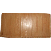 Eel Skin Wallet Secretary Check Book Cover Italy Early 1900's Estate