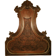 Hoke Italian Headboard Wall Hanging Walnut Burl 20th Century