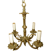 Spanish Brass Chandelier Early 1900's Rewired