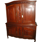 Walnut French Armoire Deux Corps 19th C Hand Carved
