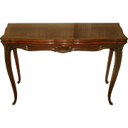Game Dining Table Harrod's Flip Top Walnut Burl