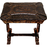 English Chinoiserie Chest C.1850 Hand Painted