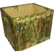 Scottish Bread Box Planter Earthenware 19th C Rare