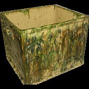 Scottish Bread Box Planter Earthenware 19th C Rare