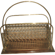 Brass Magazine Rack English 19th Century