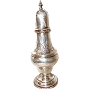 English Sugar Shaker Silver Plated 19th Century