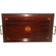 English Mahogany Tray Inlaid 19th Century
