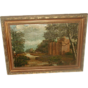English Oil Painting Framed 19th Century