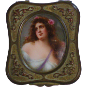 Victorian Gilded Brass Box w/Handpainted Portrait-Ete-Reserved for FPC