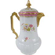 LS & S Lewis Strauss & Sons Limoges Chocolate Pot