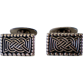 David Andersen Norway Sterling Silver Saga Celtic Knot Cufflinks